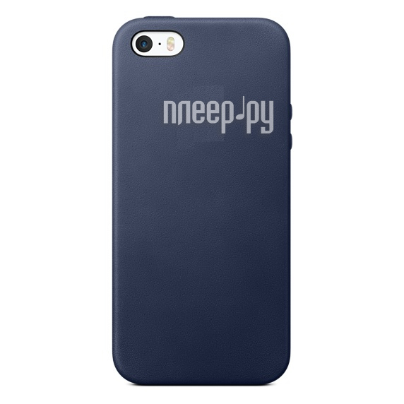 Аксессуар Чехол APPLE iPhone 5 / 5S / SE Leather Case Midnight Blue MMHG2ZM / A