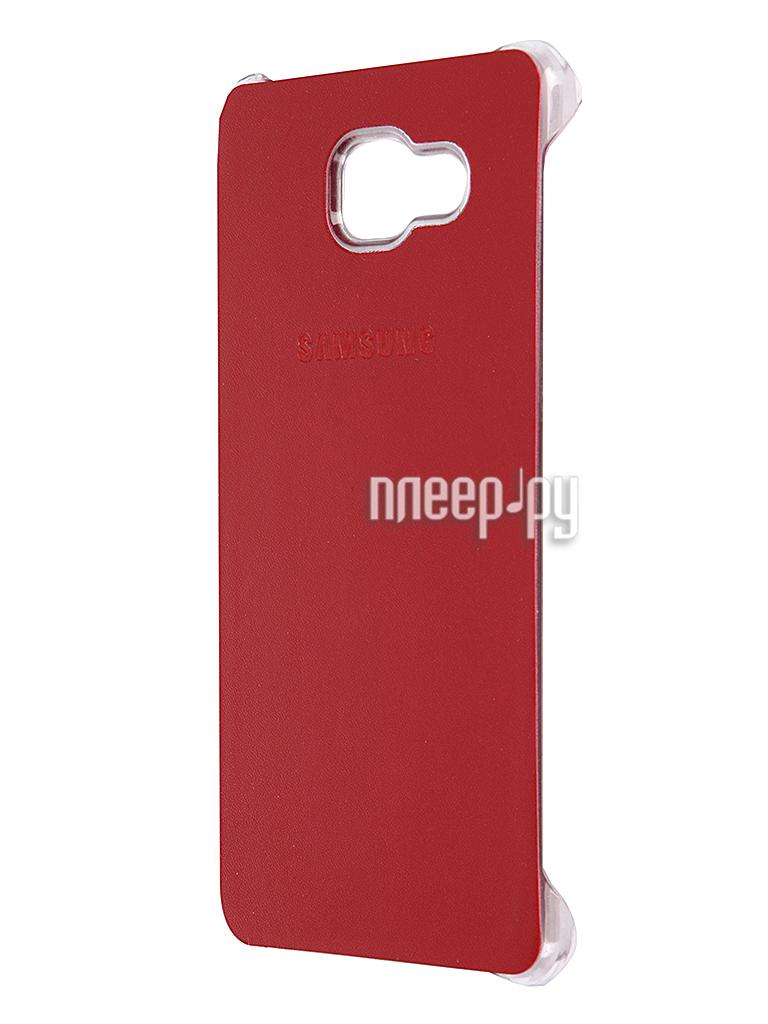 Аксессуар Чехол-накладка Samsung Galaxy A7 2016 Activ Case S View Cover Wallet Red 58091