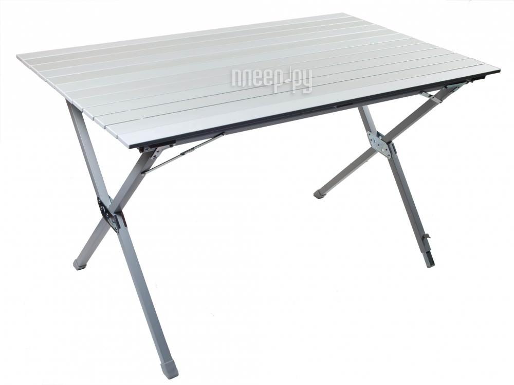 Стол Trek Planet Dinner Roll-up Alu table 120 White ТА-570