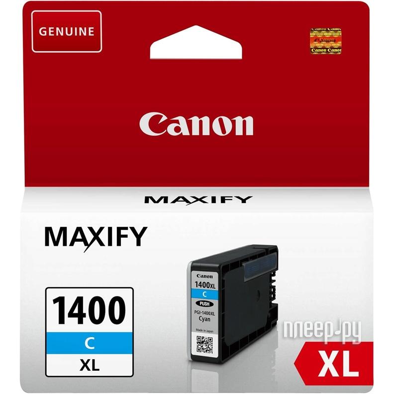 Картридж Canon PGI-1400C XL Cyan для MAXIFY МВ2040 / МВ2340 9202B001 купить