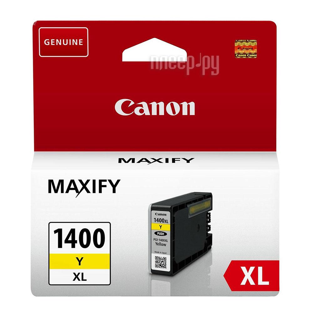 Картридж Canon PGI-1400Y XL Yellow для MAXIFY МВ2040 / МВ2340 9204B001