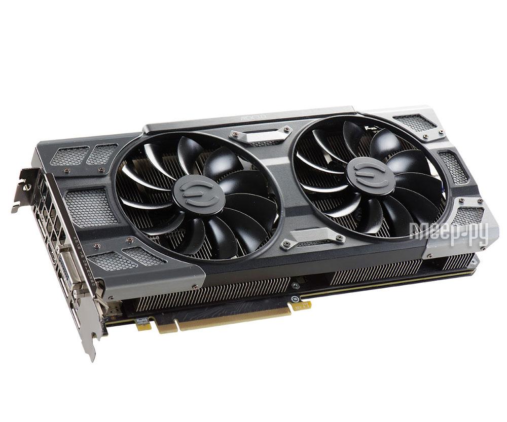 Видеокарта EVGA GeForce GTX 1080 1607Mhz PCI-E 3.0 8192Mb 10000Mhz 256 bit DVI HDMI HDCP FTW 08G-P4-6284-KR