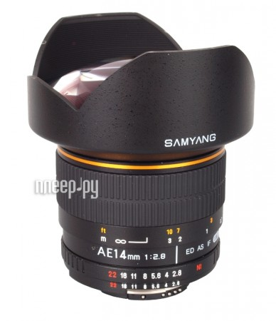Объектив Samyang Nikon MF AE 14 mm F / 2.8 AS ED IF UMC купить