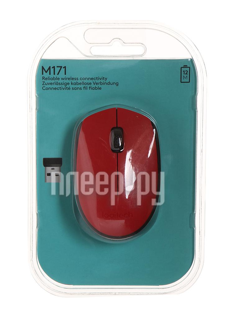 Мышь Logitech M171 Wireless Red-Black 910-004641