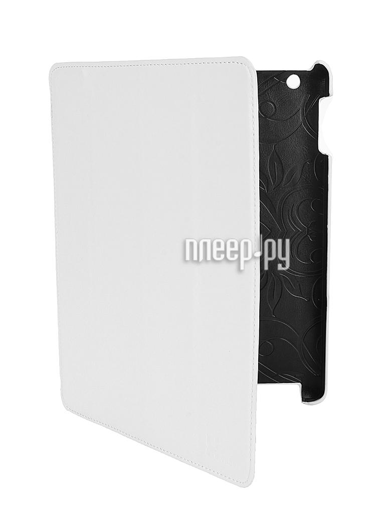 Аксессуар Чехол LuxCase Premium для iPad 2/3/4 Гладкая кожа White 10368