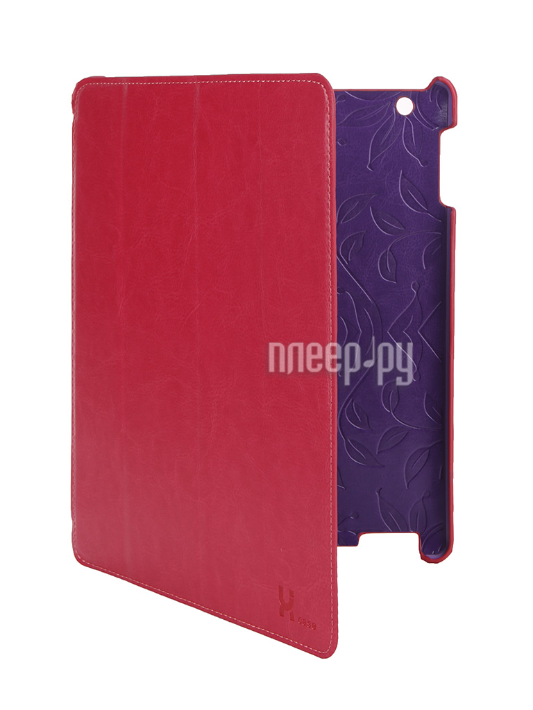 Аксессуар Чехол LuxCase Premium для iPad 2/3/4 Гладкая кожа Pink 10366