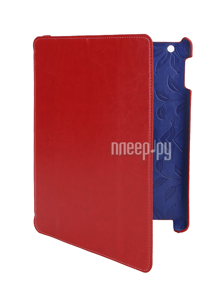 Аксессуар Чехол LuxCase Premium для iPad 2/3/4 Гладкая кожа Red 10364