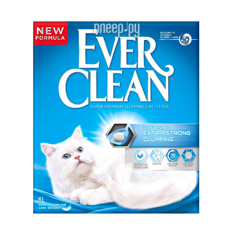 Наполнитель Ever Clean Extra Strong Clumpin Unscented 6L 492154