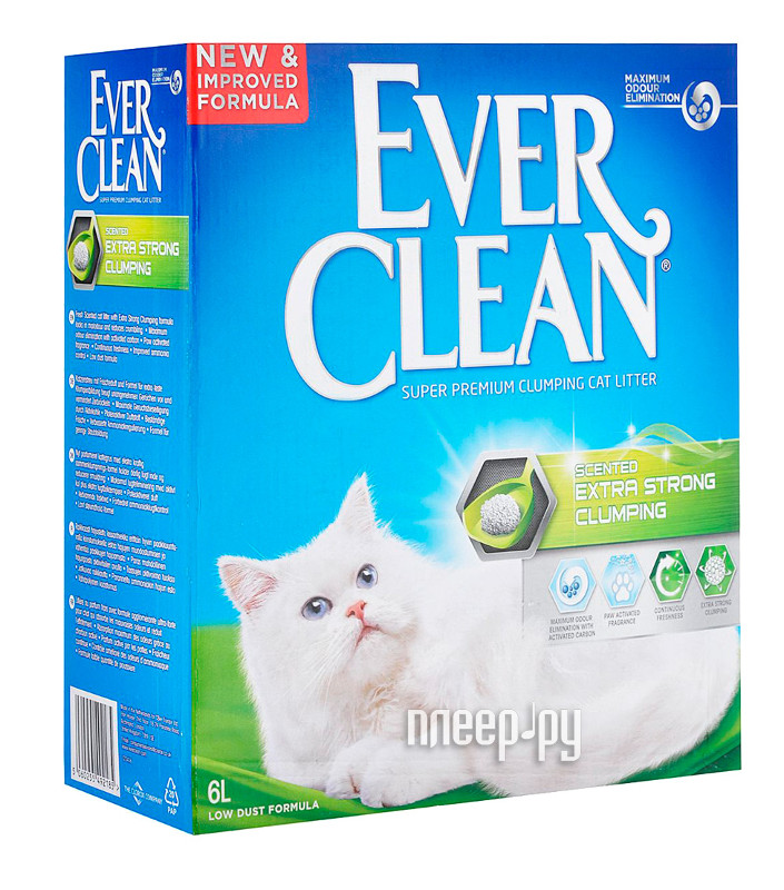 Наполнитель Ever Clean Extra Strong Clumping Scented 6L 492185