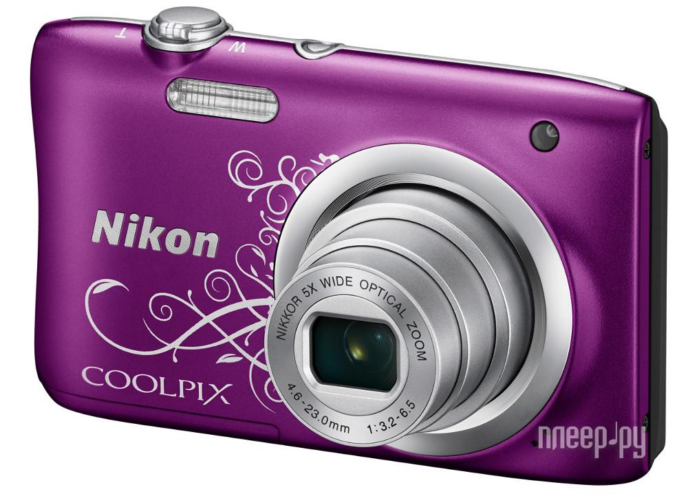 Фотоаппарат Nikon Coolpix A100 Purple Lineart