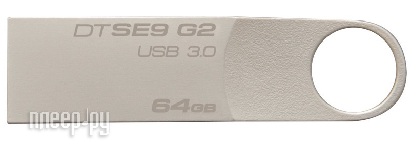 USB Flash Drive 64Gb - Kingston DataTraveler SE9 G2 USB 3.0 Metal DTSE9G2/64GB