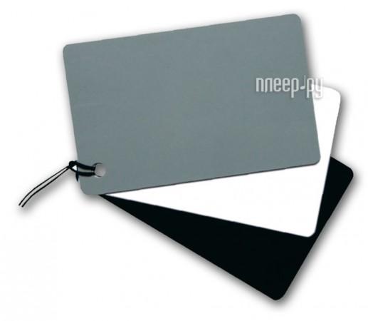 Аксессуар Fujimi DGC-1 / Dicom GC-3 / Flama FL-DGC / Flama FL-DGC-Z / Mennon / Pixco Cards - карточка установки баланса белого  Pleer.ru  627.000