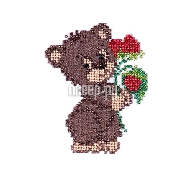 Набор для творчества Бисеринка Медвежонок для вышивания бисером Б-0054