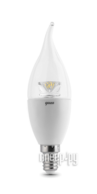 Лампочка Gauss LED Candle Tailed-dim Crystal Clear 6W E14 4100K 104201206-D