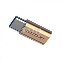 Аксессуар Vention USB Type C M - USB 2.0 Micro B 5pin F Gold VAS-S10-G