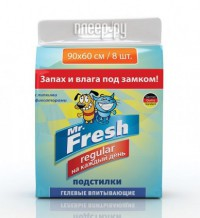 Пеленки Mr.Fresh Regular 60х90см 8штук F203