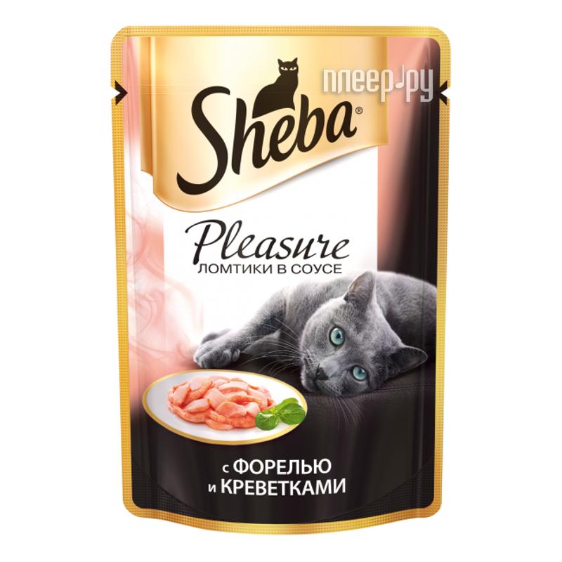 Корм Sheba Пауч Плежер форель / креветки 85g для кошек 39306