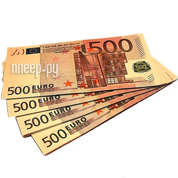 Гаджет СмеХторг Шуточные купюры - бабки 500 евро пачка 100 шт
