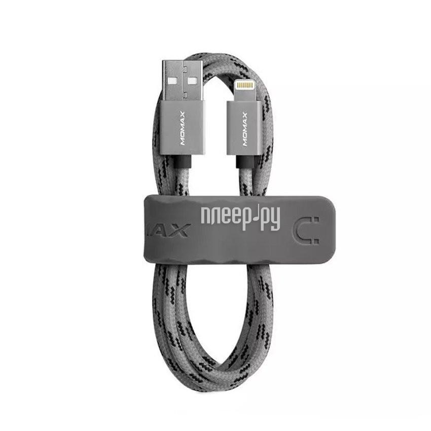 Аксессуар MOMAX USB / Lightning Elite Link 3m MFI DL6 Grey