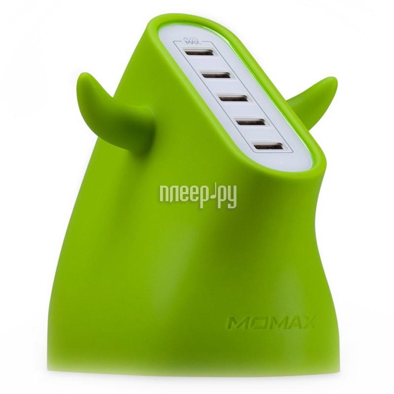 Зарядное устройство MOMAX U.Bull 5-port USB UM5S Green