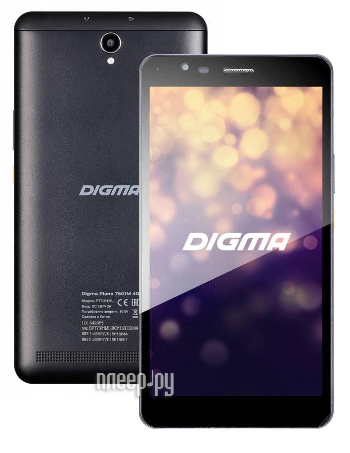 Планшет Digma Plane 7601M 4G PT7021ML (MediaTek MT6735M 1.2 GHz / 1024Mb / 8Gb / GPS / LTE / Wi-Fi / Bluetooth / Cam / 6.98 / 1280x720 / Android)