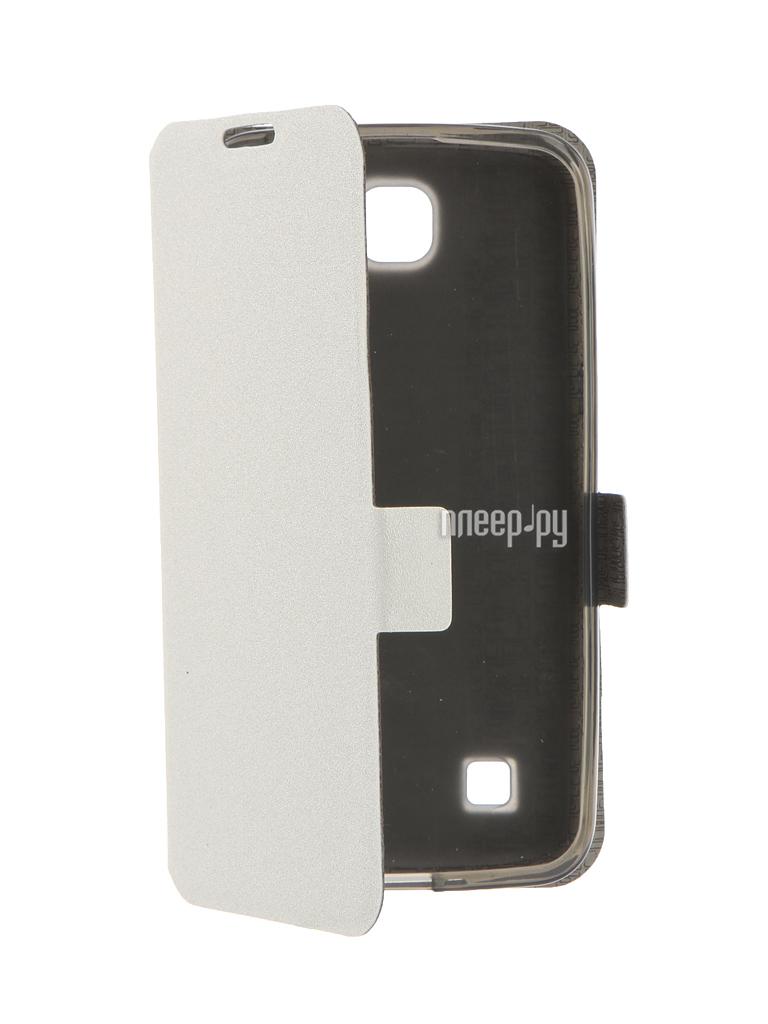 Аксессуар Чехол LG K4 Prime Book White T-P-LK4-05