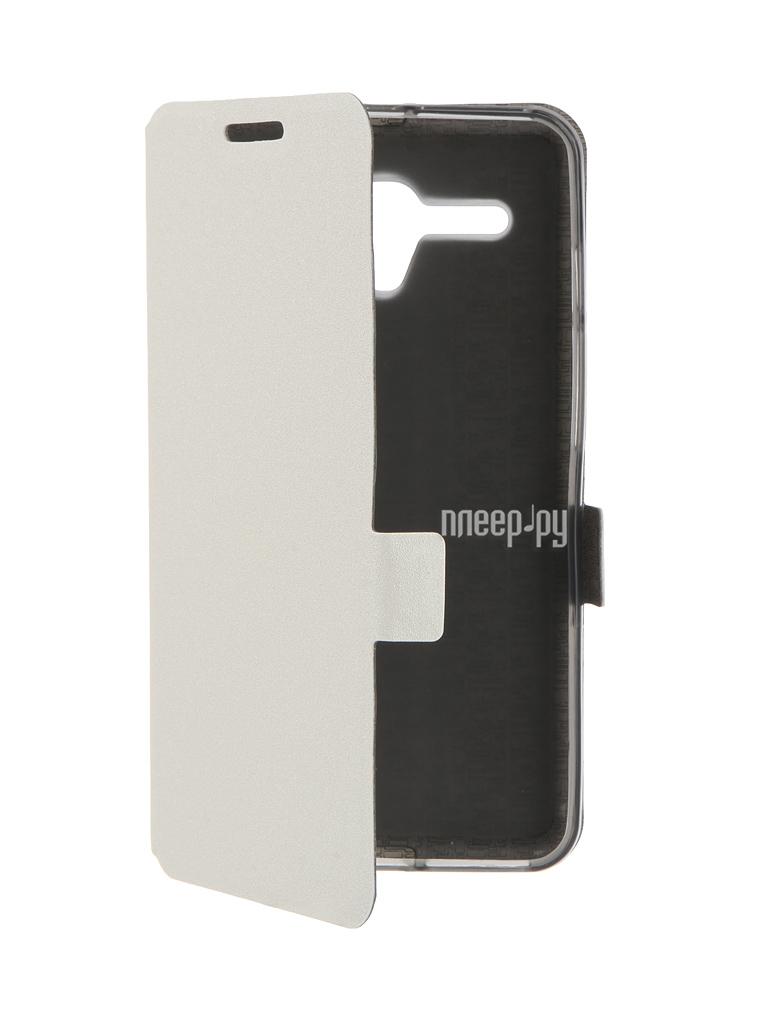 Аксессуар Чехол Alcatel OneTouch 5025D POP 3 Prime Book White T-P-AOT5025D-05