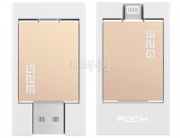 Гаджет ROCK Flash Drive 32 Gb MFI для APPLE iPhone / iPad Lightning Golden