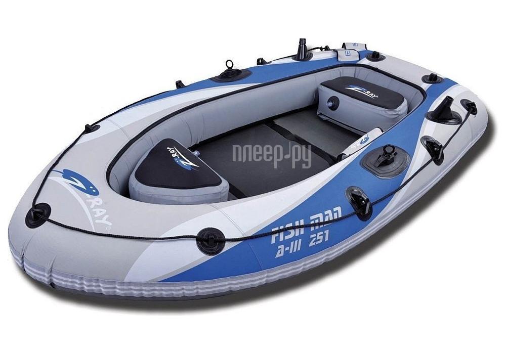 Надувная лодка Jilong Fishman Boat A-III 251 с электромотором 898281