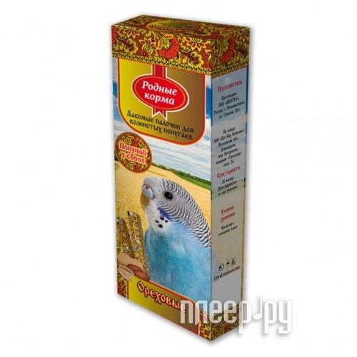 Корм Родные Корма Зерновая палочка с орехами 45г для попугаев 60974 за 112 рублей