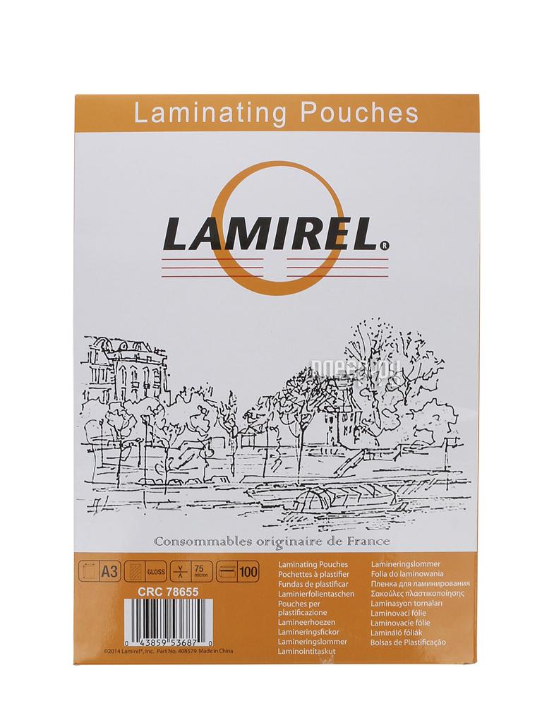Пленка для ламинатора Lamirel 75мкм 100шт LA-78655