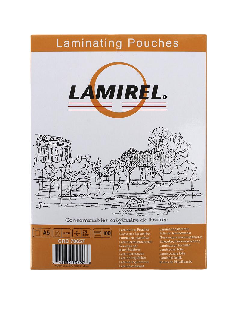 Пленка для ламинатора Lamirel 75мкм А5 100шт глянец LA-7865701