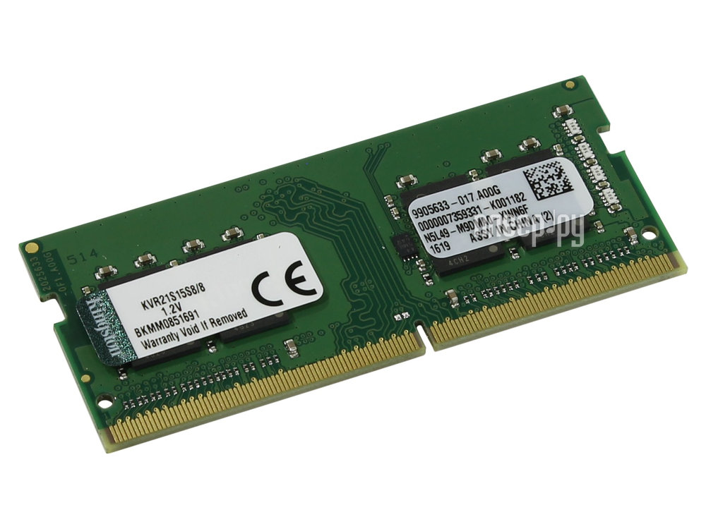 Модуль памяти Kingston DDR4 SO-DIMM 2133MHz PC4-17000 - 8Gb KVR21S15S8/8