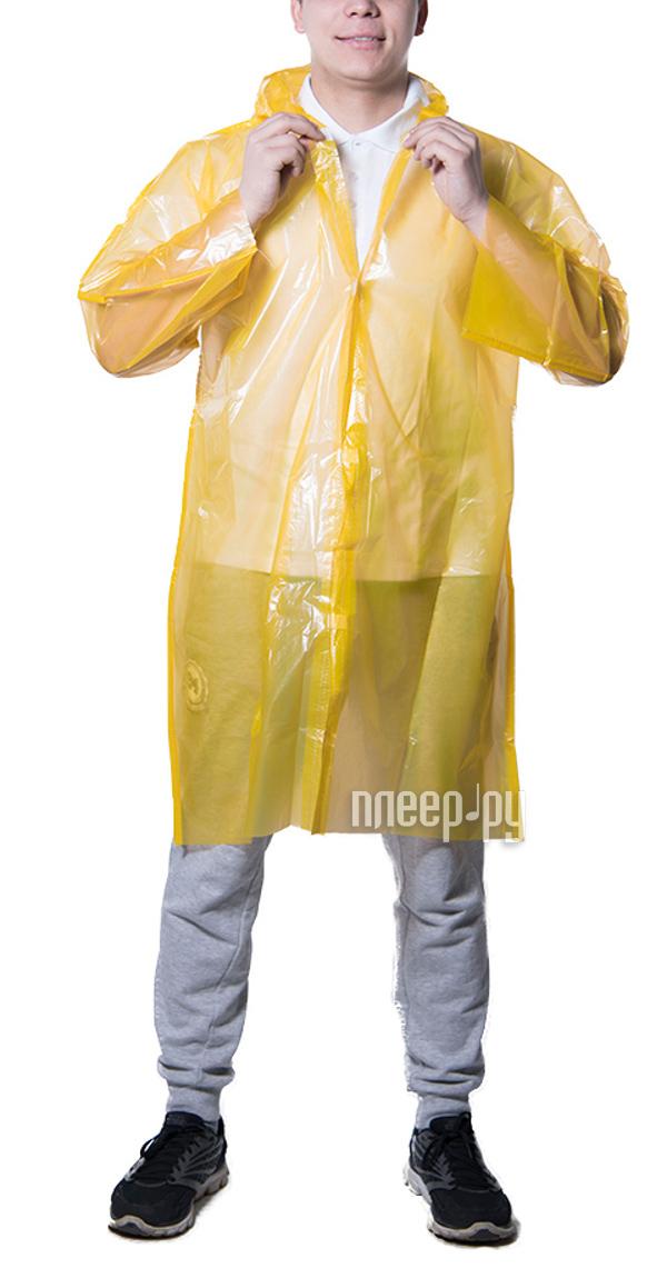 Плащ-дождевик Русский дождевик Стандарт-2 50мкр р.UNI Yellow купить