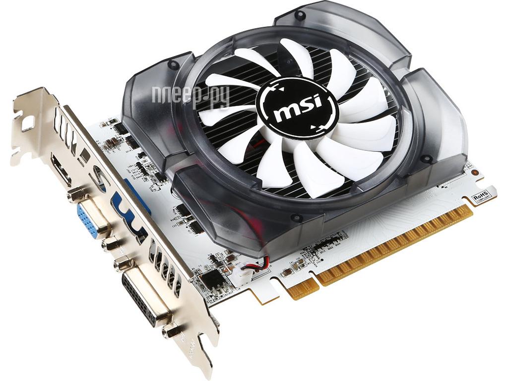Видеокарта MSI GeForce GT 730 700Mhz PCI-E 2.0 4096Mb 1000Mhz 128 bit DVI HDMI HDCP N730-4GD3V2