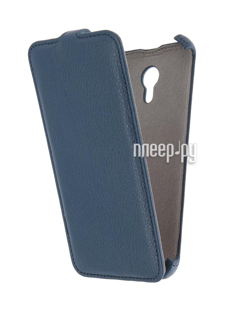 Аксессуар Чехол Meizu M2 Note Activ Flip Case Leather Blue 55358