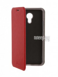 Аксессуар Чехол Meizu M3 Note SkinBox Lux Red T-S-MM3N-003