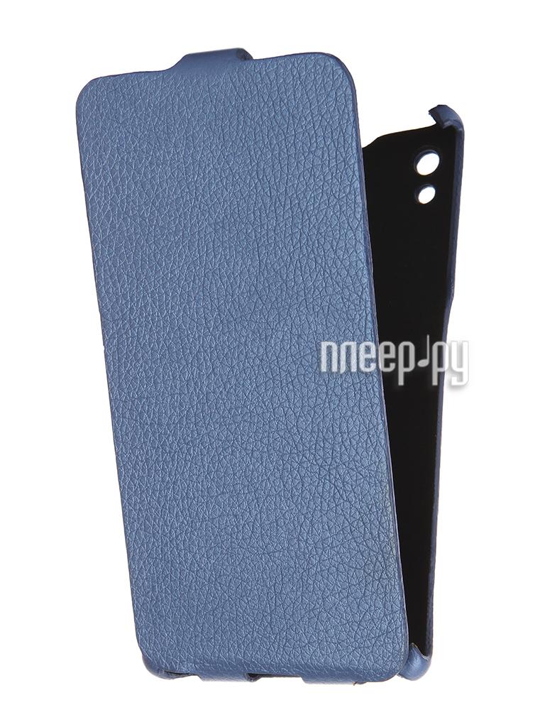 Аксессуар Чехол Sony Xperia Z5 Cojess Ultra Slim Экокожа Флотер Blue за 163 рублей