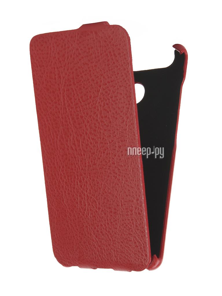 Аксессуар Чехол Huawei P9 Single sim Cojess Ultra Slim Экокожа Флотер Red