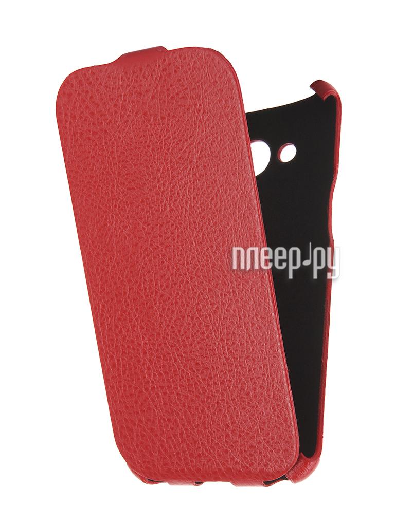 Аксессуар Чехол Samsung Galaxy J3 2016 Cojess Ultra Slim Экокожа Флотер Red
