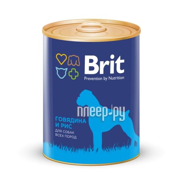 Корм Brit говядина и рис 850g для собак 9280