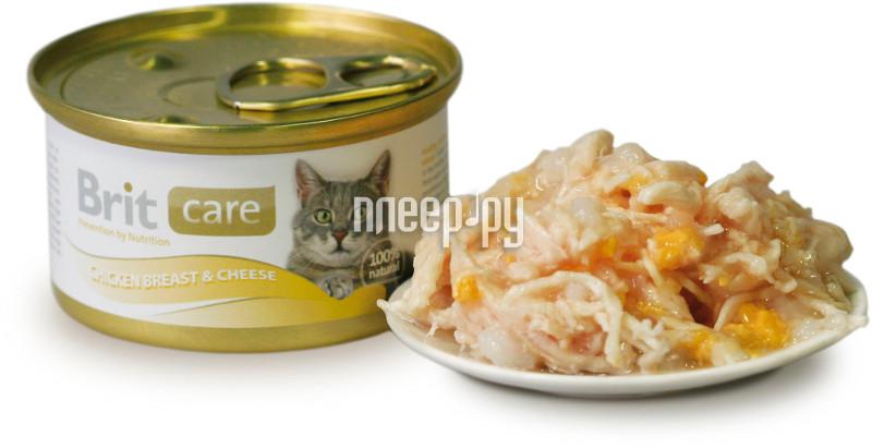 Корм Brit Chicken Breast&Cheese 80g для кошек 100059 / 3018
