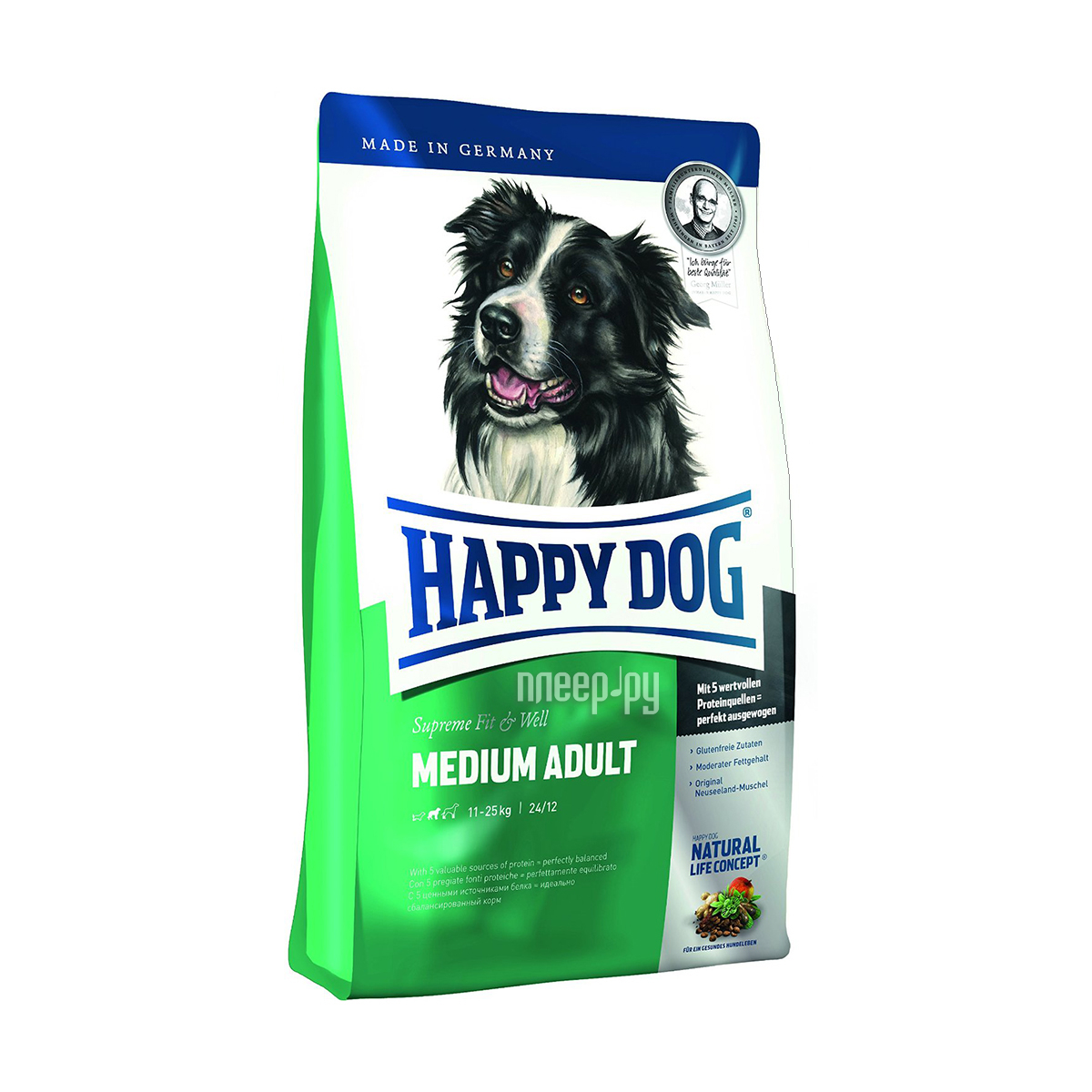 Корм Happy Dog Adult Medium Баранина 12.5kg 60007 / 5614