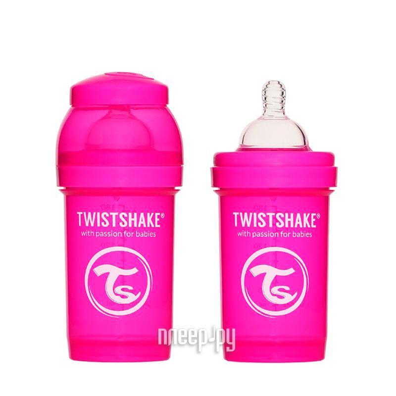 Бутылочка Twistshake 180ml Pink 780001