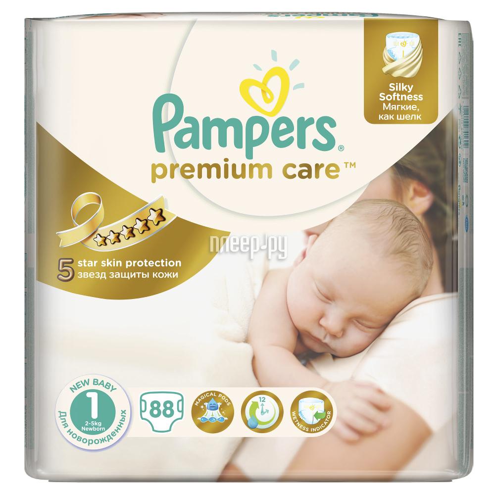 Подгузники Pampers Premium Care Newborn 2-5кг 88шт 4015400741602