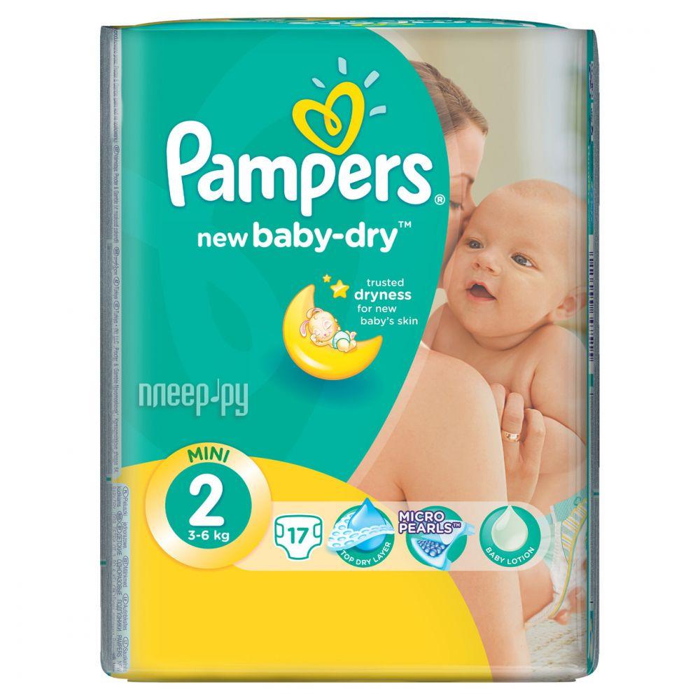 Подгузники Pampers New Baby-Dry Mini 3-6кг 17шт 4015400647515
