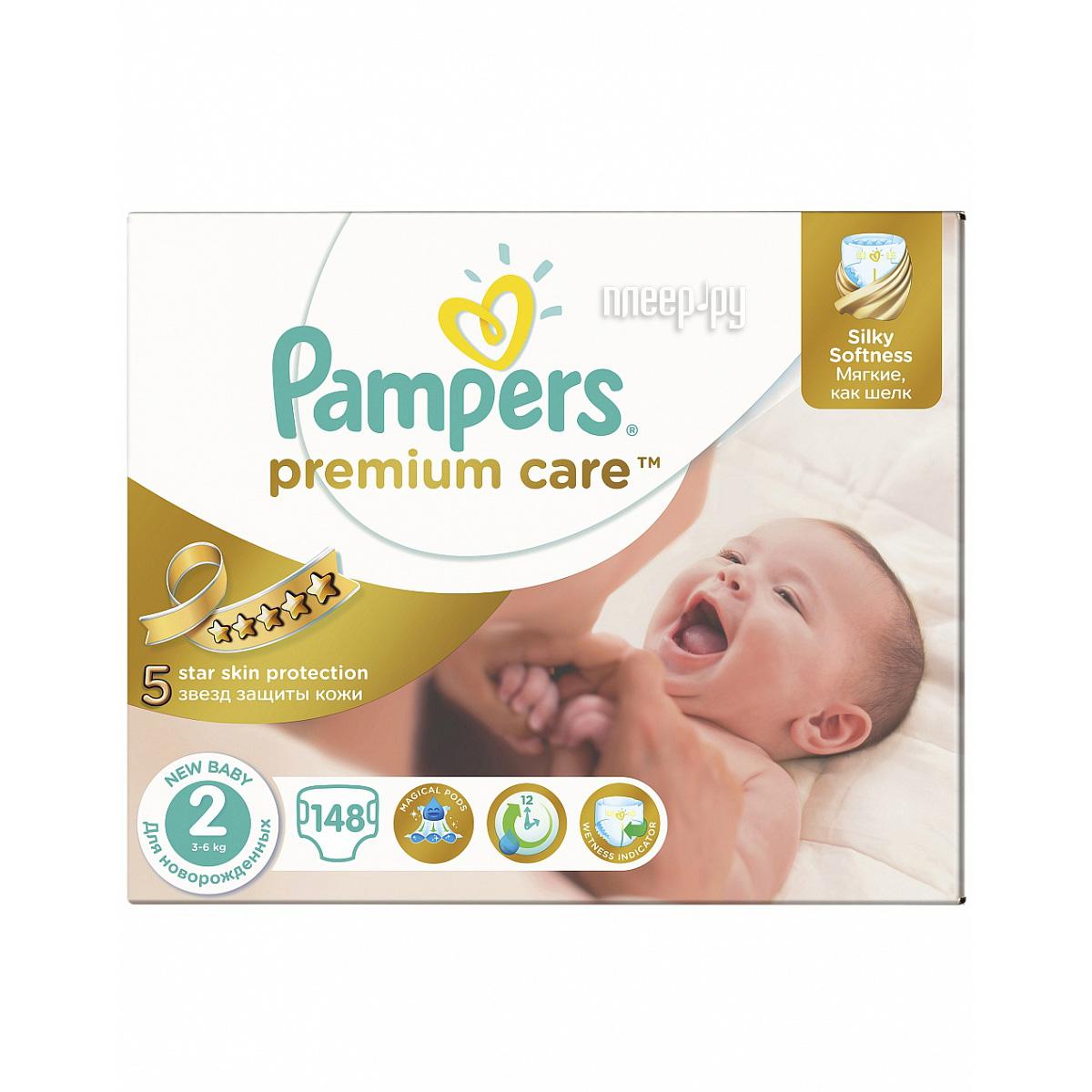 Подгузники Pampers Premium Care 3-6кг 148шт 4015400770275 за