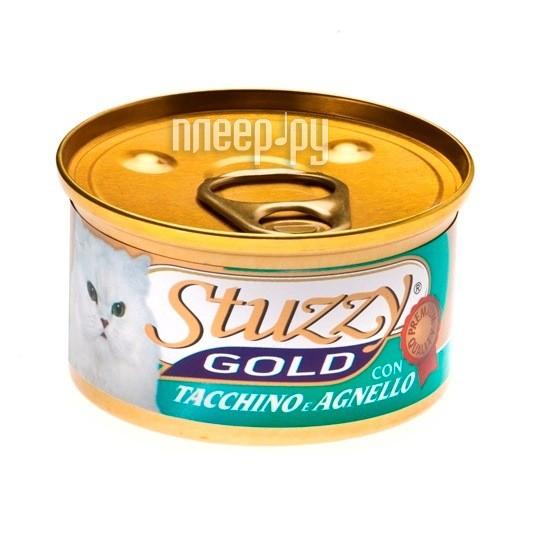 Корм Stuzzy Gold Индейка и Ягненок 85g для кошек 132.C454