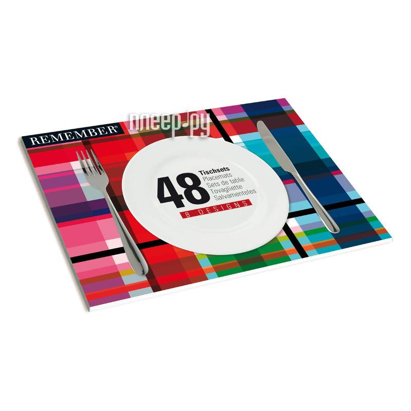 Кухонная принадлежность Remember Mix - набор из 48 сервировочных ковриков SB02