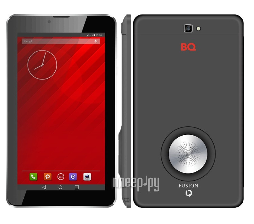 Планшет BQ 7064G Fusion Black (MediaTek MT8321 1.3 GHz / 1024Mb / 8Gb / 3G / Wi-Fi / Bluetooth / Cam / 7 / 1024x600 / Android)